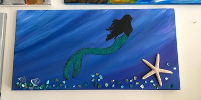 Mermaid Canvas Painting - June @ 7pm