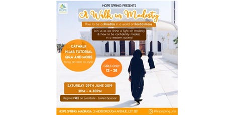 ✨A Walk in Modesty✨How to be a Khadija in a world of Kardashians tickets