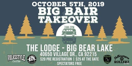 Big Bair  AIRCOOLED  VW Takeover tickets