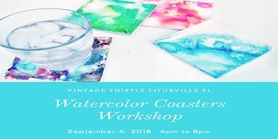 Watercolor Coasters Workshop