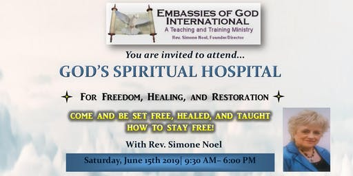 God's Spiritual Hospital-Breakthrough for Freedom,Healing, and Restoration!!!