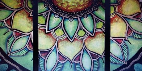 Girls Night Paint n' Sip - Mandala on 3 canvases tickets
