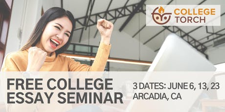 "College Essay Workshop in Arcadia CA: Craft Your ""Elevator Pitch""! (3 Dates) tickets"