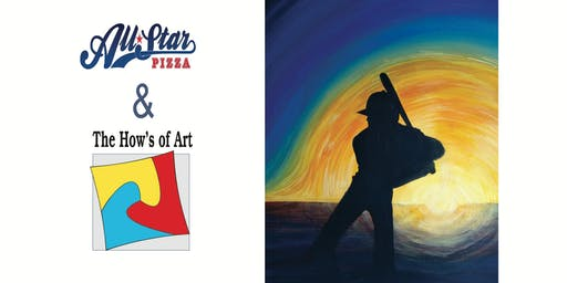 Fun Painting Night at All Star Pizza - Mission Viejo. FOOD & WINE INCLUDED!