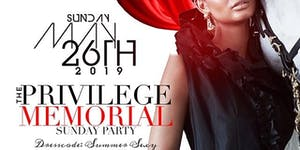 Privilege Memorial Sunday Night Party at Chapman And Ki...