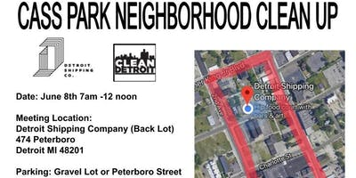 Cass Park Neighborhood Clean Up