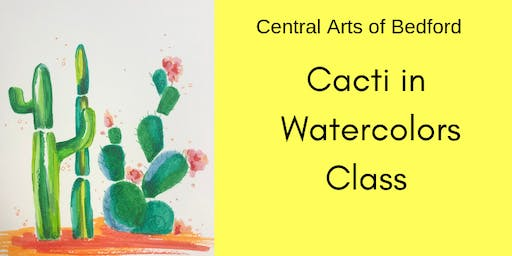 Watercolor Cacti Painting Class