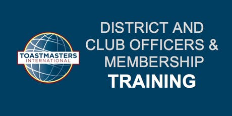 District 49: First Round Club Officers & Membership Training, June 22, 2019 tickets
