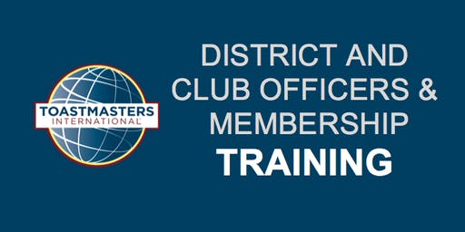 District 49: First Round Club Officers & Membership Training, June 22, 2019