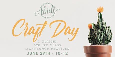 Abide Craft Day tickets