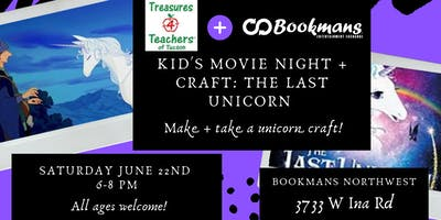 The Last Unicorn Movie + Craft Night with Treasures for Teachers