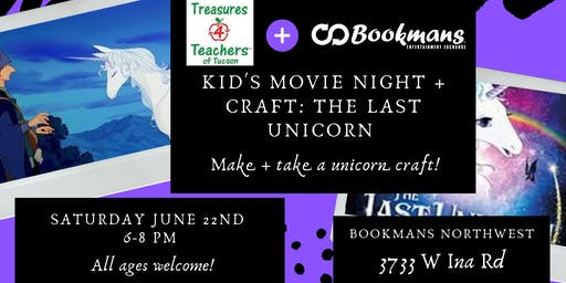 The Last Unicorn Movie + Craft Night with Treasures for Teachers