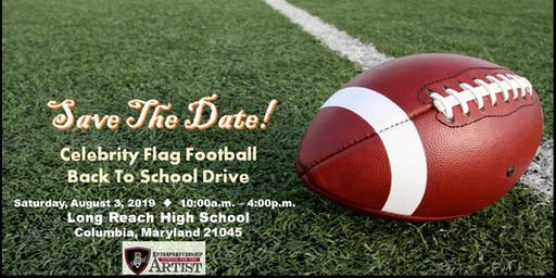 Celebrity Flag Football Back to School Drive
