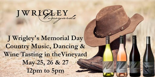 Memorial Day Wine Tasting & Country Dancing (pay @ the door)