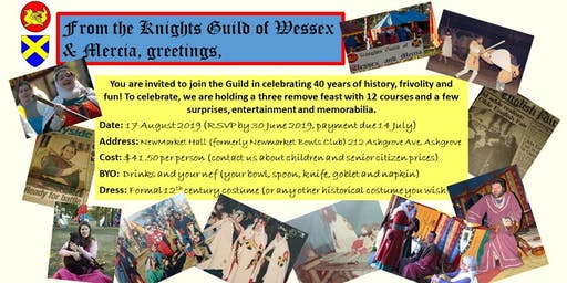 Knights Guild of Wessex and Mercia 40th Anniversary Feast