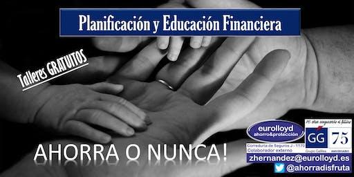 Taller GRATUITO de Planificación y Educación Financiera