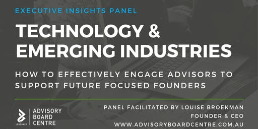 Business Foundations Technology & Emerging Industries Panel