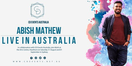 Abish Mathew in Sydney tickets