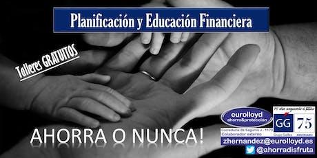 Taller GRATUITO de EDUCACIÓN FINANCIERA entradas