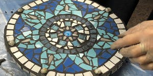 Mosaicworks' Spring Workshop -  Mosaic Stepping Stone...