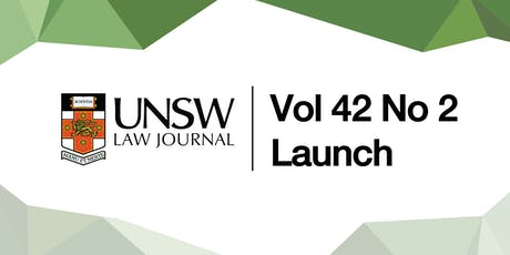 UNSW Law Journal 42(2) Launch tickets