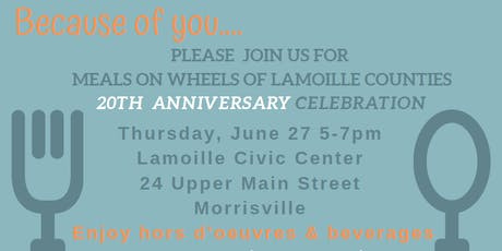 Meals on Wheels 20th Anniversary Celebration tickets