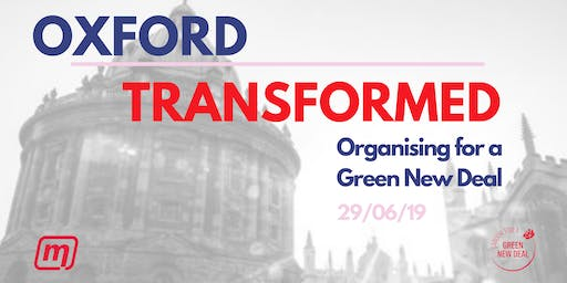Oxford Transformed - Organising for a Green New Deal