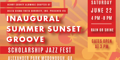 Banner Advertisement for HCAC Summer Sunset Groove Jazz Event