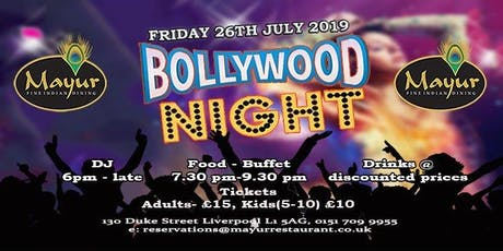 Bollywood Night Liverpool tickets