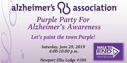 Purple Party For  Alzheimer's Awareness
