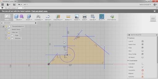 Modélisation 3D avec Fusion 360 : Introduction & esquisses 2D