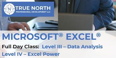 Microsoft® Excel® Training–Level III/Level IV COMBO: Data Analysis & Excel Power