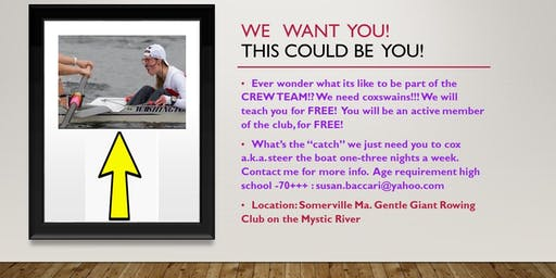 Be part of the CREW TEAM!