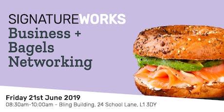Business + Bagels - Breakfast Networking - 21st June 2019 tickets