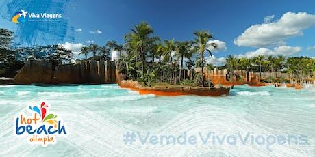 01/08 - Aniversário de Bauru no Hot Beach Olímpia SP - Parque Aquático - Viva Viagens ingressos
