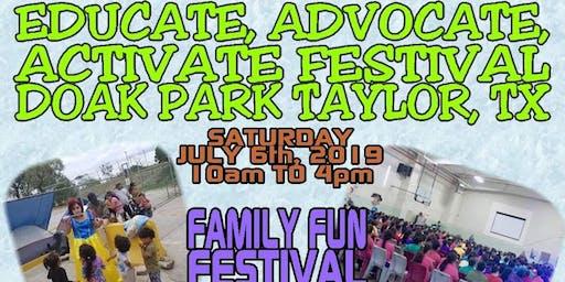 Educate Advocate Activate Festival