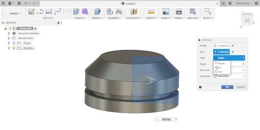 Modélisation 3D avec Fusion 360 : Création formes 3D à partir d'esquisses