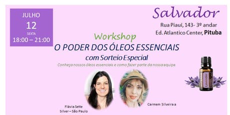 Salvador - WORKSHOP O PODER DOS ÓLEOS ESSENCIAIS  ingressos