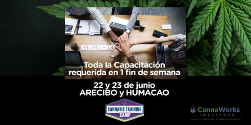 ARECIBO | Cannabis Training Camp | 22 & 23 de Junio | CannaWorks Institute