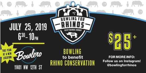 South Florida AAZK's Bowling For Rhinos 2019