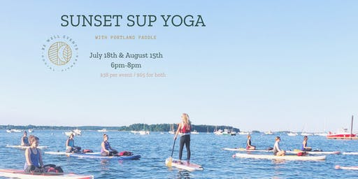 Sunset SUP Yoga feat. Portland Paddle