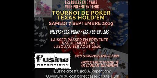 Tournoi de Poker Bénéfice pour Les bulles en Cavale