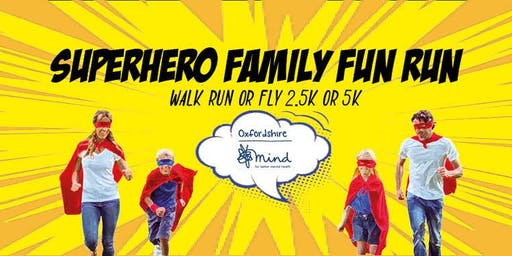 Superhero Family Fun Run #OxMind #SuperheroFamilyFunRun #MentalHealthAwareness