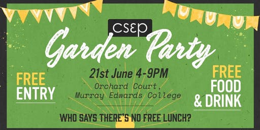 Cambridge Society for Economic Pluralism  Garden Party 2019