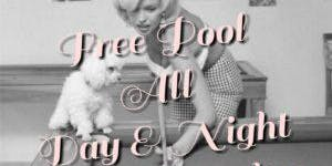 FREE Pool every Monday!