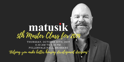 Matusik Master Class #5 : 10th October 2019