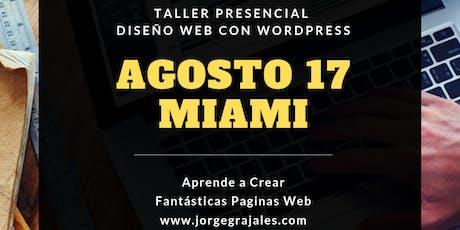 TALLER PRESENCIAL DISEÑO WEB CON WORDPRESS tickets
