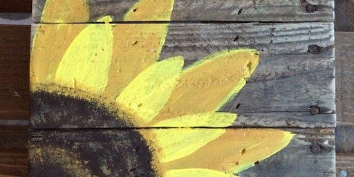 Paint, Pallet, and Pint : Sunflower