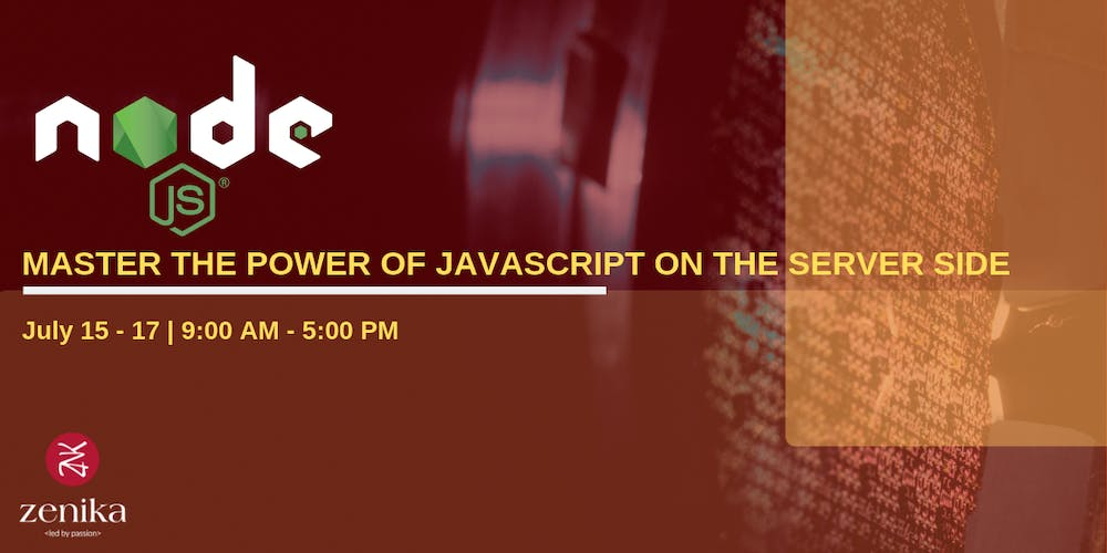 b6682de9f Master the power of JavaScript on the server side - Node.js Tickets ...