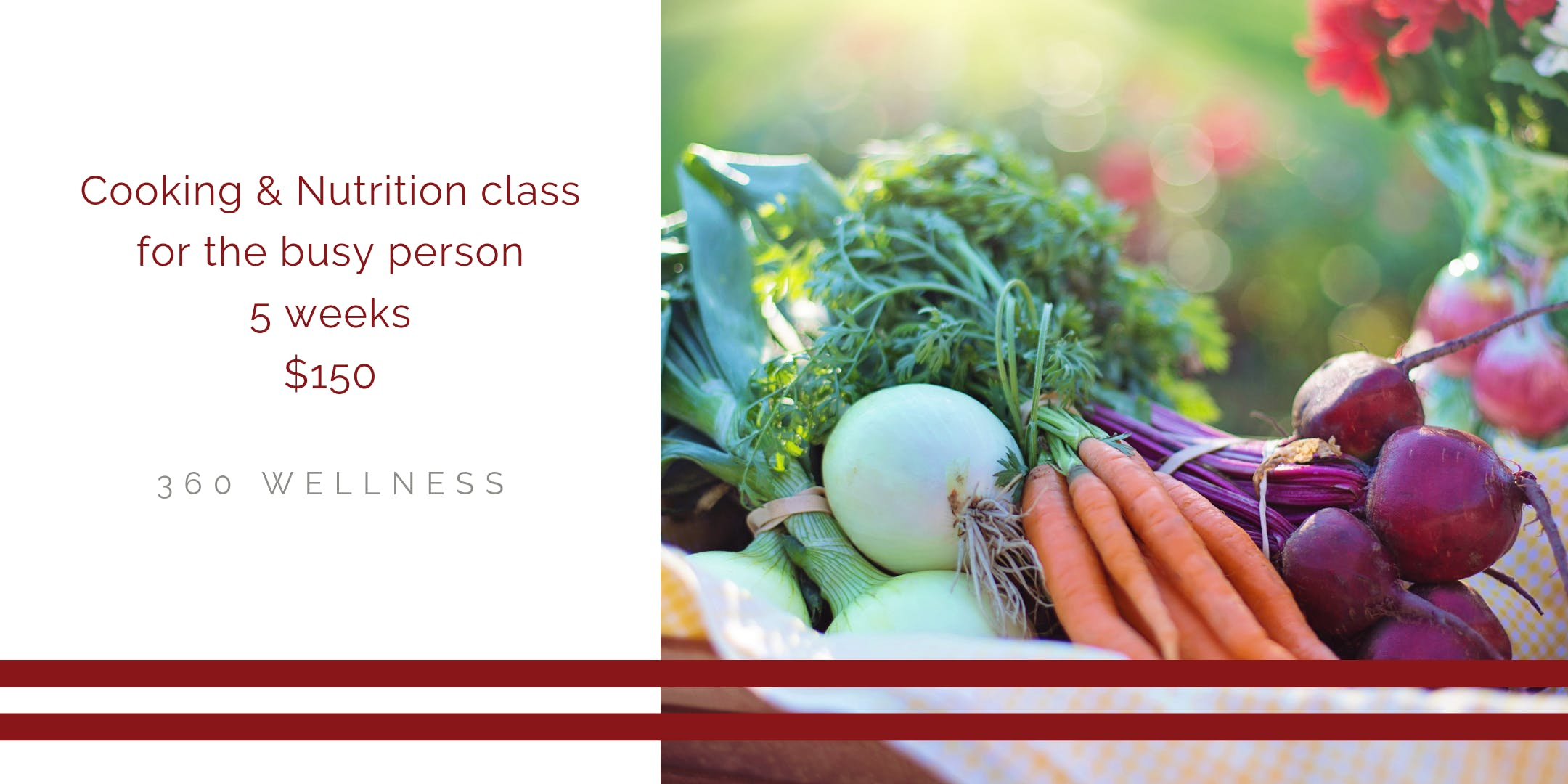 Cooking and Nutrition Class banner